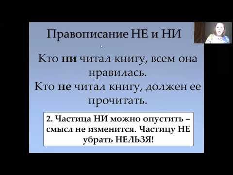 4.  Правописание частиц НЕ и НИ (ЕГЭ по русскому языку)