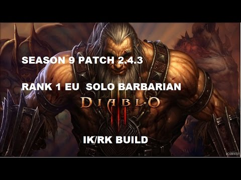 Diablo  Barbarian Whirlewind Push Build Season