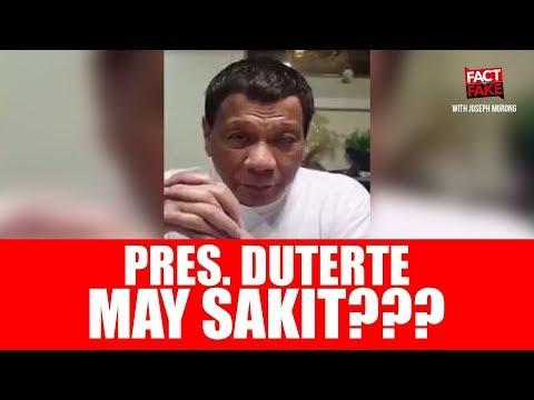 Fact or Fake: Facts on Philippine President Rodrigo Duterte's Health