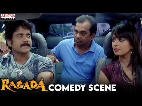 Anushka And Nagarjun Comedy With Brahmanandam In Ragada Hindi Movie