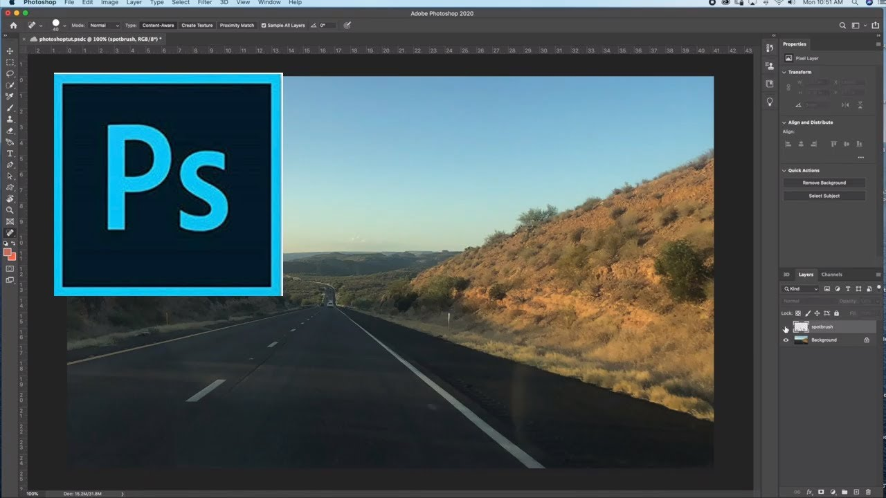 How to use the Spot Healing Brush for Photographs in Photoshop