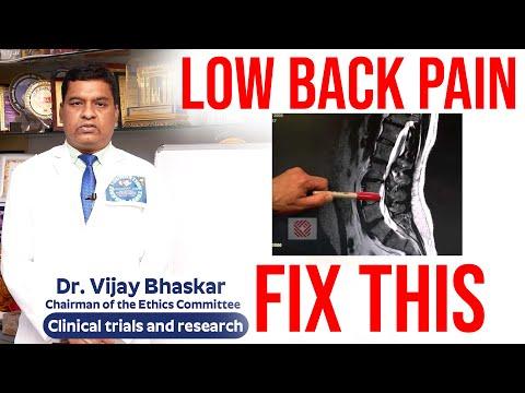Fix This!! Treat Lower Back Pain - Manage Low Back Pain | Dr. Vijaya Bhaskar