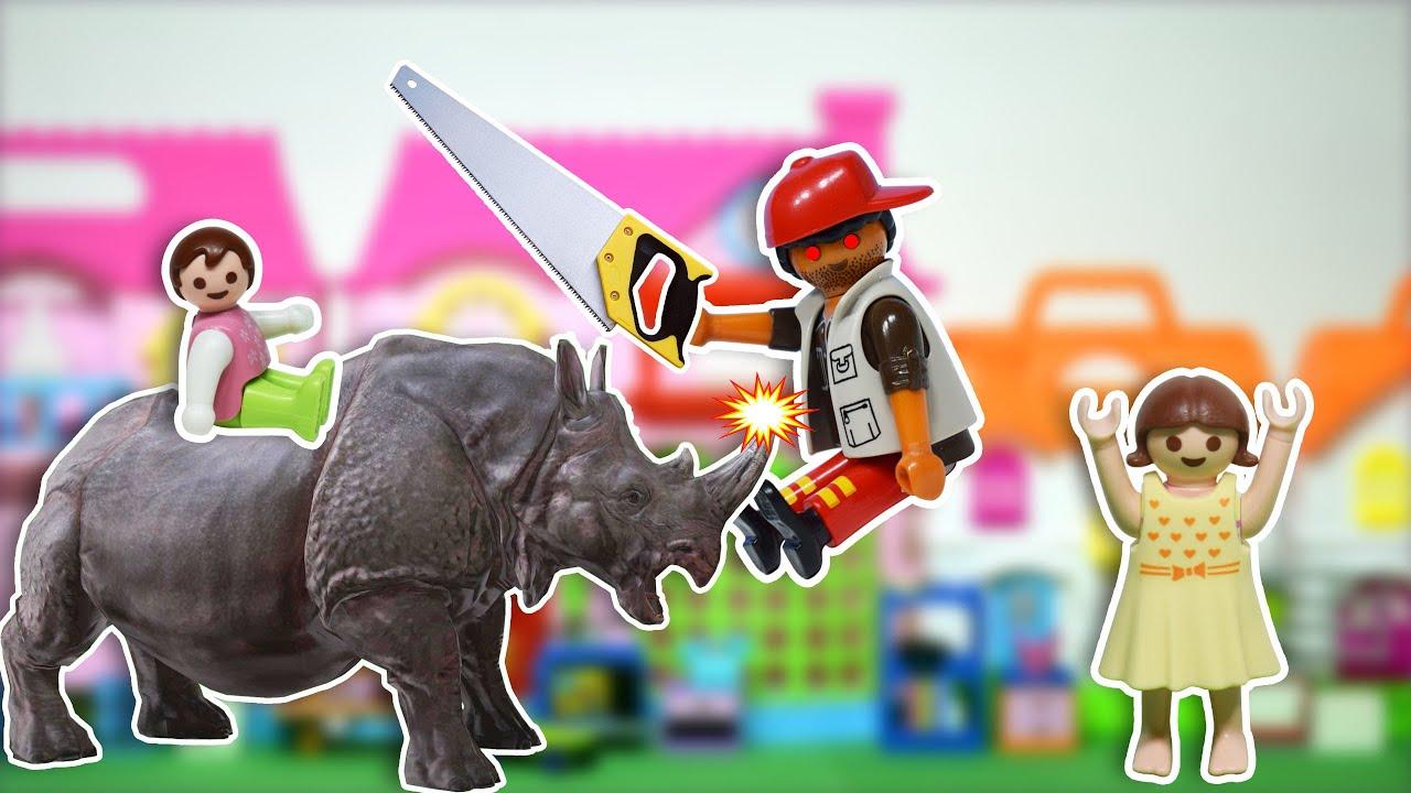 الراجل كان عايز ينشر قرن وحيد القرن بالمنشار - عائلة ساندي - قصص اطفال