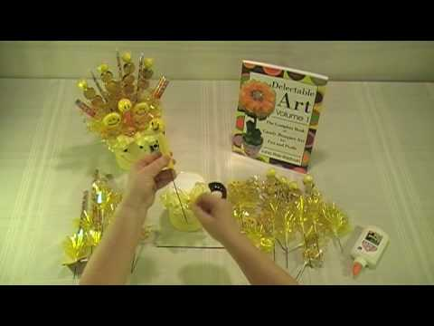 happy-face-candy-bouquet-in-a-mug---how-to-make-candy-bouquets---delectable-art