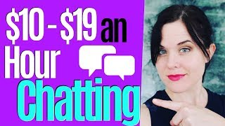 Work From Home Jobs | Make $10 To $19 Per Hour Chatting