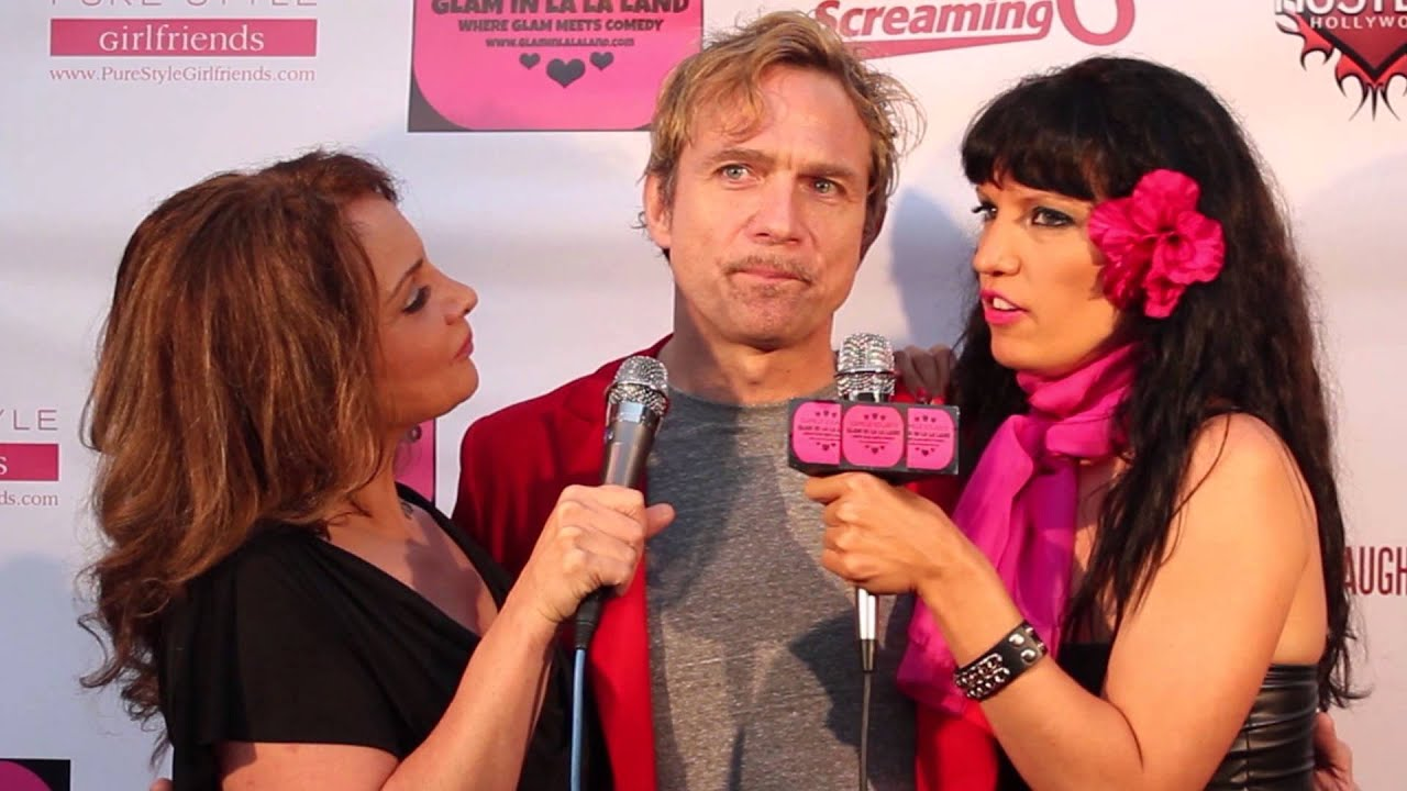 Comedian Adam Barnhardt Rebecca Bardoux On Camille Solaris Glaminlalaland At The Hollywood Improv
