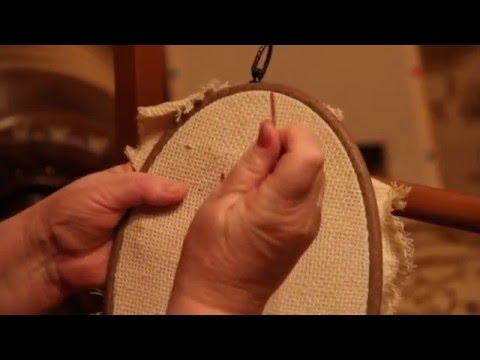 Вышивка крестом как закрепить нить