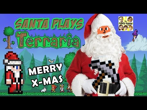 Santa plays Terraria!  Merry Christmas & Happy Holidays from the FGTEEV Fam