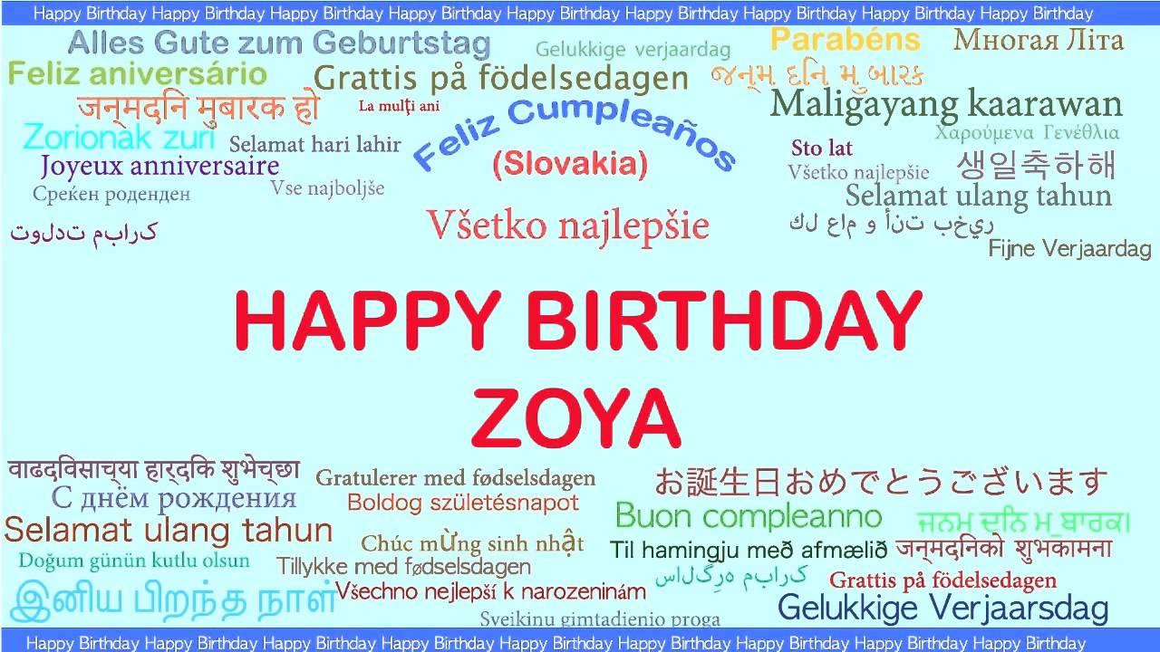 Zoya Languages Idiomas Happy Birthday YouTube