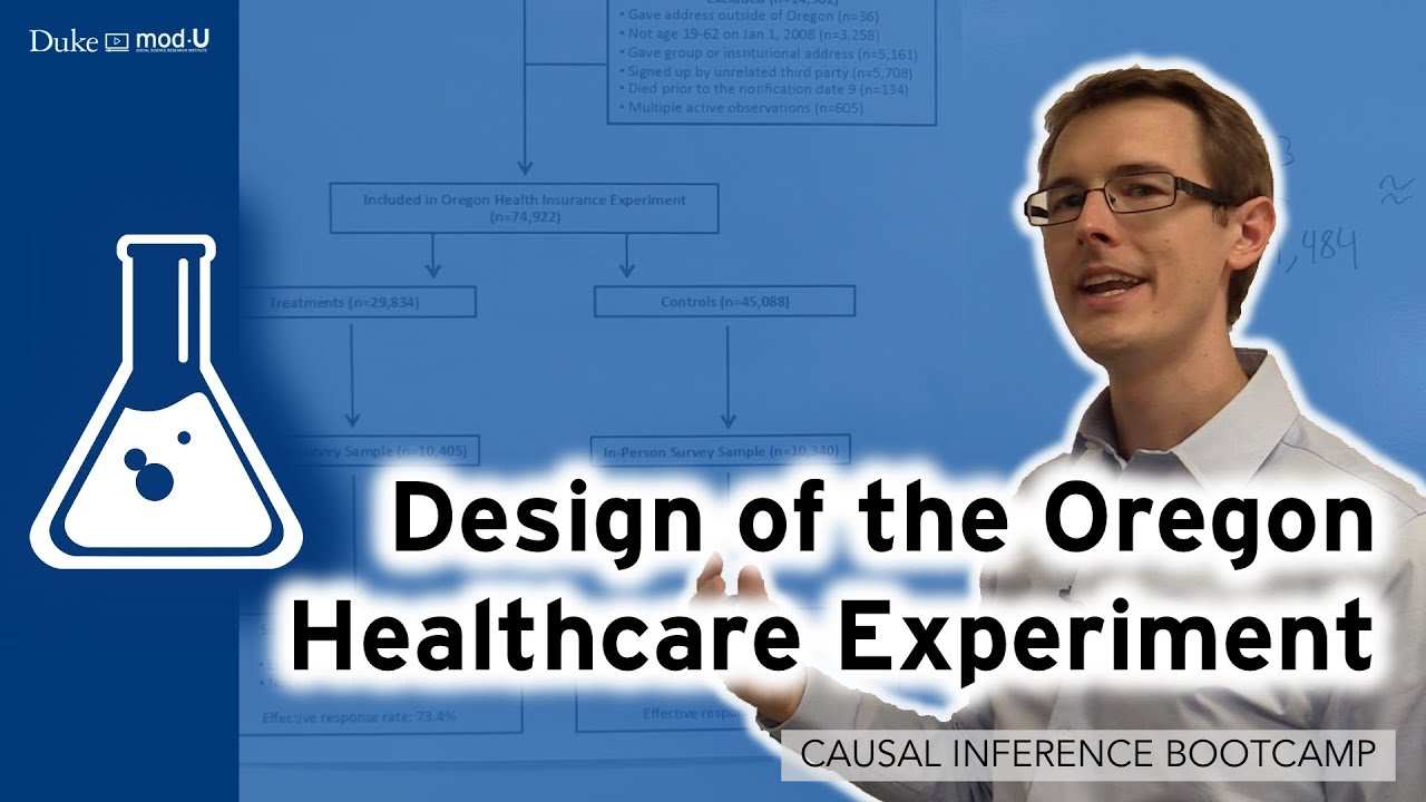 Design Of The Oregon Health Experiment Causal Inference Bootcamp Youtube