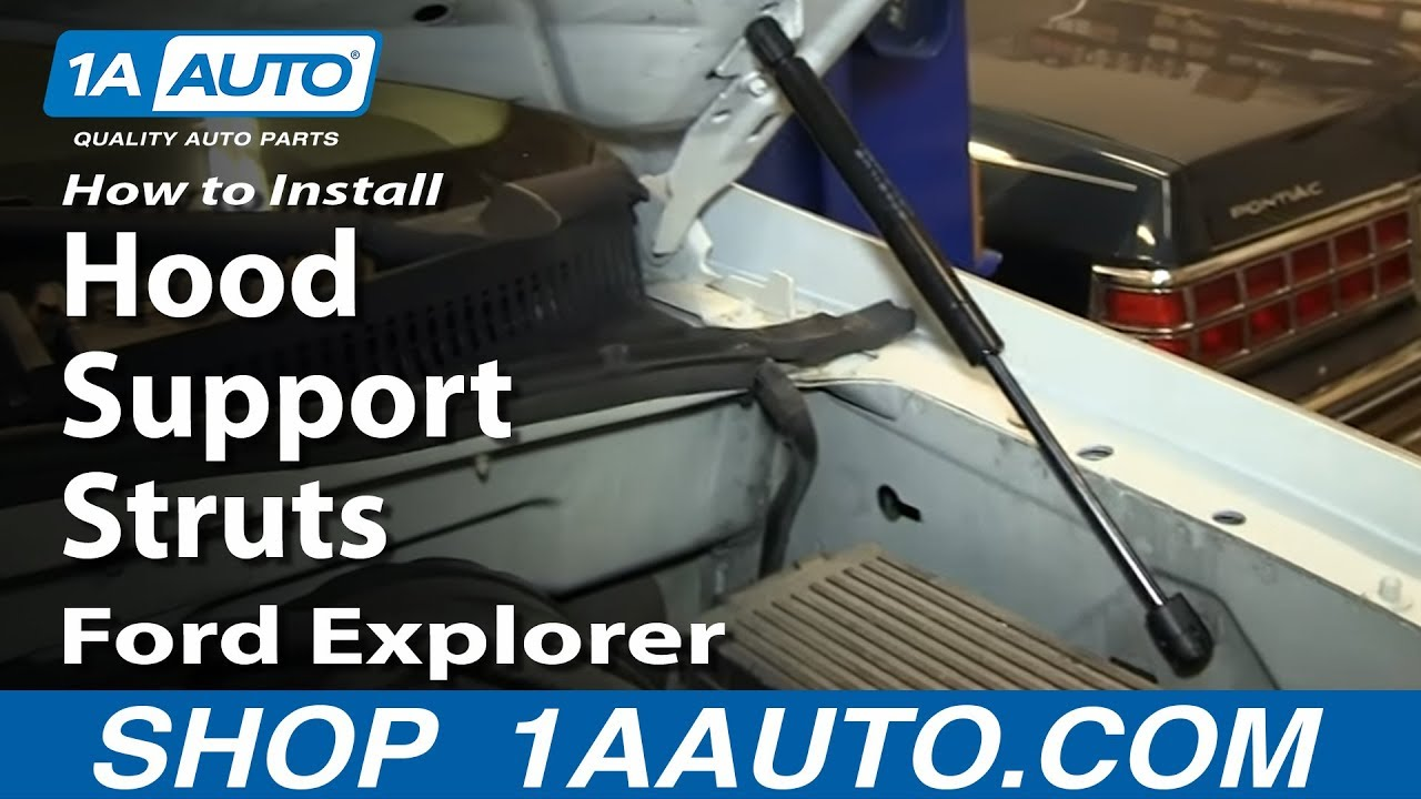 How to install replace hood support struts 2002 05 ford explorer mercury mountaineer youtube