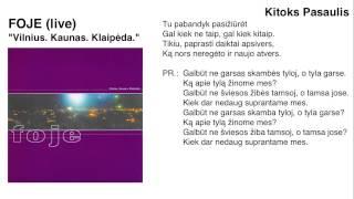 """FOJE - """"Kitoks Pasaulis"""" (live)"""