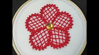 Hand Embroidery | Braid Stitch Embroidery | Fantasy Flower Stitch | Fantasy Flower Embroidery