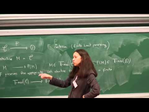 Olivia Caramello - 2/4 ntroduction to categorical logic, classifying toposes...