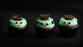 Halloween Frankenstein Cupcakes  ♥ Chokolat Pimienta