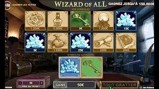 Grattage de jeux Wizard of All 💕💕💕 Gros gain magique ou non ? 💕💕💕