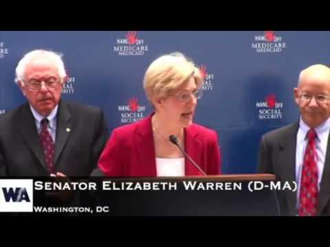 Sen. Elizabeth Warren Speaks up for Security, Medicare, Medicaid and Veterans Benefits