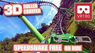 VR Roller Coaster 180 3D Experience | SpeedSnake free VR180 onride POV - Fort Fun Montaña Rusa VR360