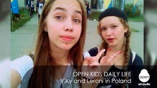 Open Kids daily life - ViKy and Leroni in Poland - Open Art Studio