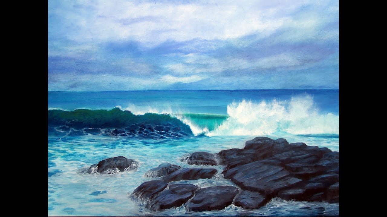 Painting Acrylic Of Seascapes