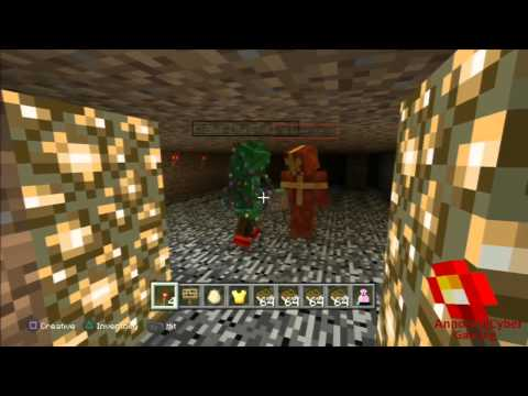 Minecraft With RawrBusta101 (PS3) -Annoyingcyberman PSN
