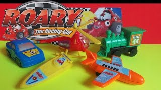 TOP 5 ROARY THE RACING CAR TOYS Inc  HELICOPTER, SPEED BOAT STEAM TRAIN JAT AIRPLANE & CAR