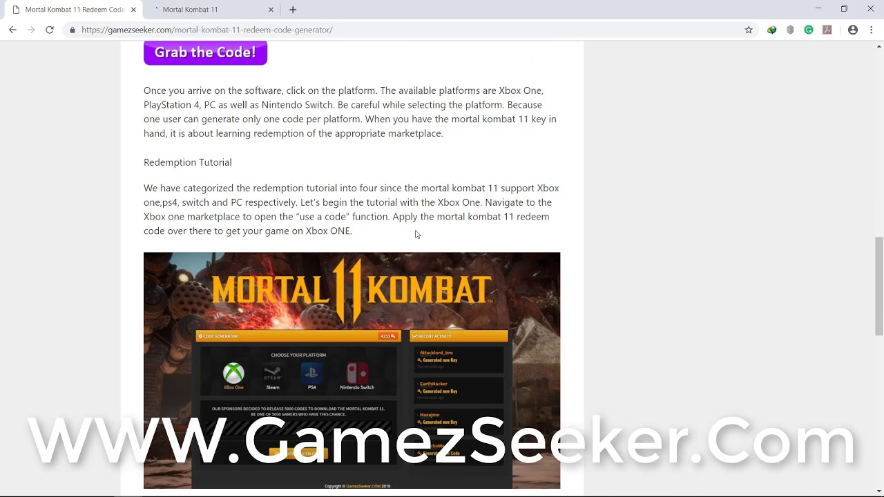 How to Get Mortal Kombat 11 Free Download Code - Xbox One/PS4/PC/Switch