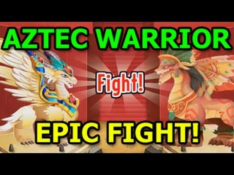 EPIC FIGHT Aztec Warrior Dragon Archangel Dragon and Legendary Dragon City