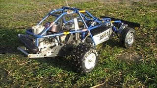 Kyosho Rowdy Baja Circuit 20 - a 30 year old RC buggy in action