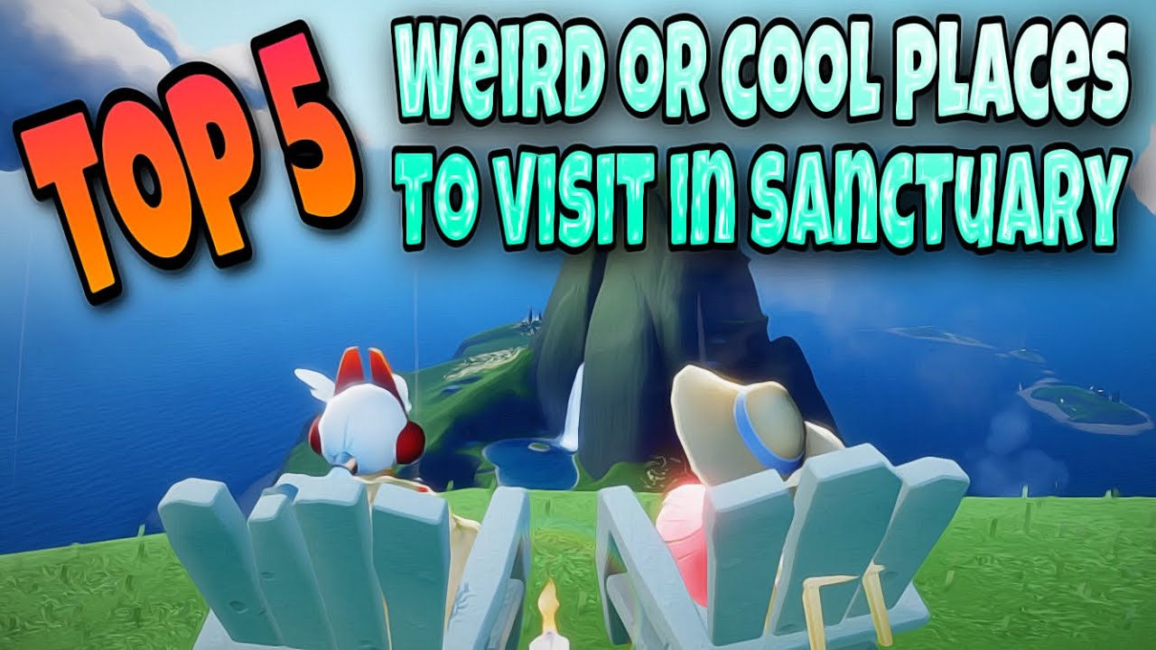 TOP 5 WEIRD/COOL PLACES TO VISIT IN NEW SANCTUARY AREA | sky children of the light | Noob Mode