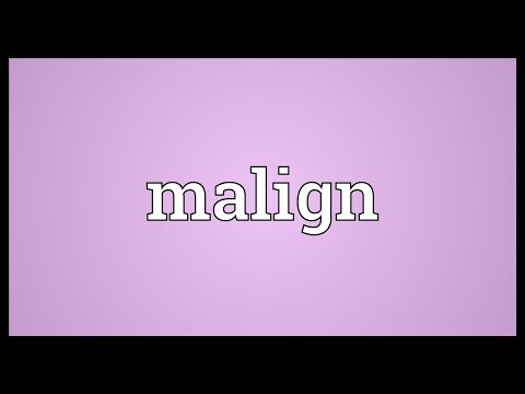 Malign Meaning