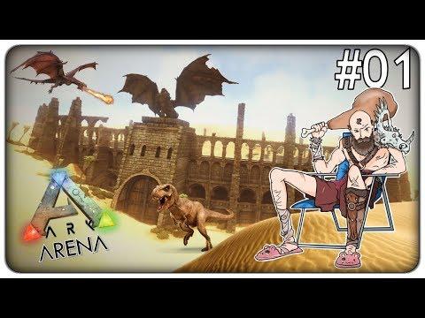 SCONTRI MORTALI FRA DINOSAURI NELL'ARENA DI NONNO OSVALDO | Ark Arena - ep. 01