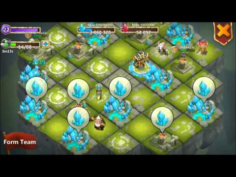 Jtisallbusiness Castle Clash 4,000,000 Blue Crystals Spent Inscribing Main Heros