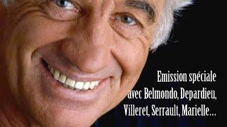 Emission télé avec Serrault, Marielle, Villeret, Depardieu, Belmondo...
