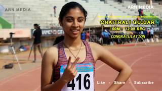 Junior Girls 100m Run Final - Federation Cup National Athletics Championships 2018