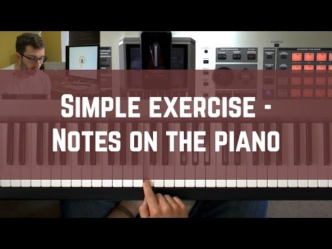 Piano notes for beginners: Simple 5 minute exercise 'Downloads' piano notes into your mind!