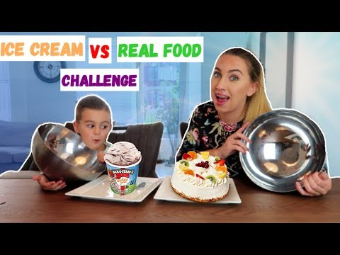 ICE CREAM VS REAL FOOD CHALLENGE! | LAKAP JUNIOR