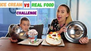 ICE CREAM VS REAL FOOD CHALLENGE! | LAKAP JUNIOR