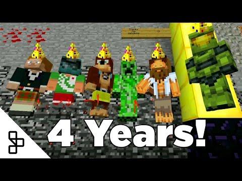 Achievement Hunter Minecraft 4 Year Anniversary
