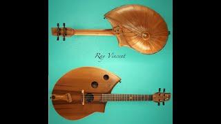 Concert ukulele. Shell back.