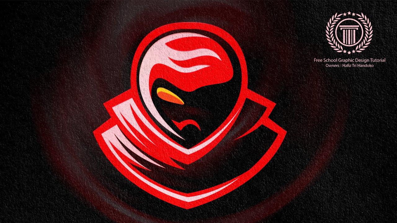 horror gaming esport team logo design sport team logo