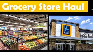 Aldi & Walmart Grocery Store Haul on a Budget with Prices!!!!/ Quest products!