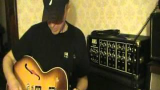 Gibson ES137 played thru vintage 1971 Marshall 50w amp