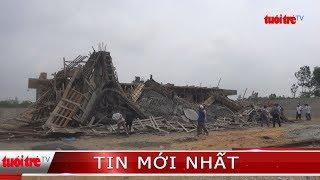 Sập giàn giáo xây dựng làm 7 công nhân bị thương