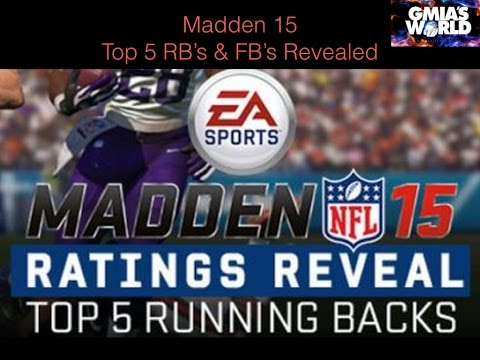 Official TOP 5 Running Backs Rating Reveal In Madden NFL Football!