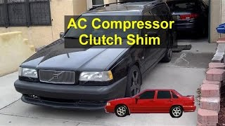 AC turns off while driving and will not come back on. Clutch gap adjustment. - REMIX