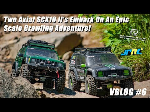 Two Axial SCX10 II's Embark On An Epic Scale Crawling Adventure