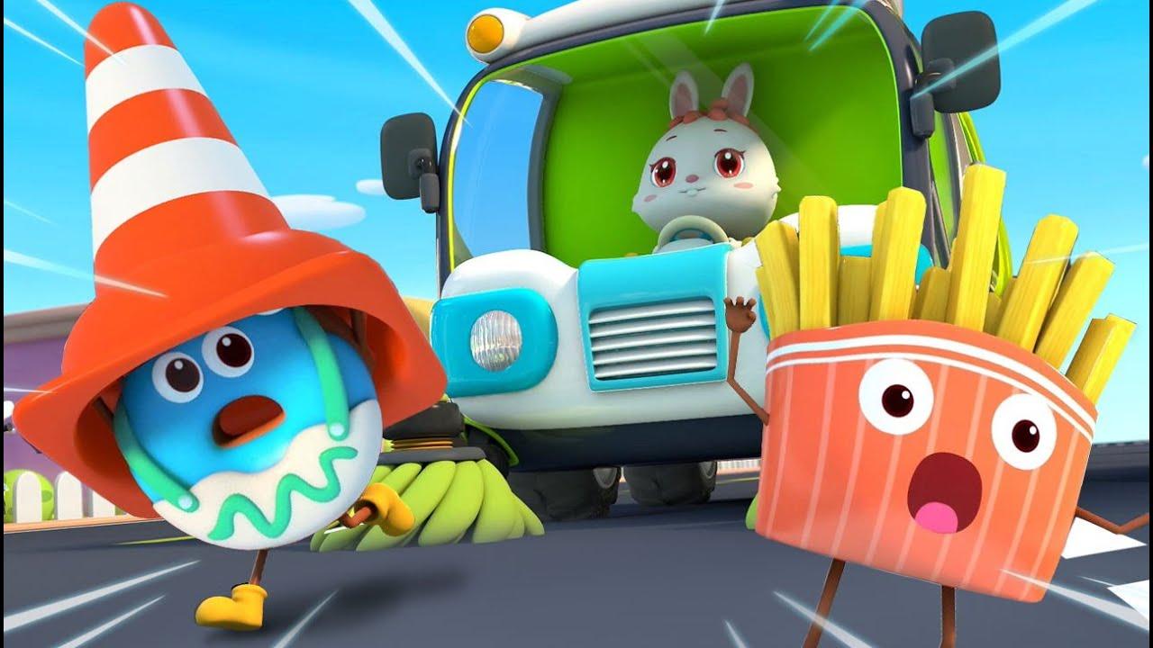 Donut's Rescue Mission    Yummy Foods Animation   Kids Cartoon   Nursery Rhymes   BabyBus
