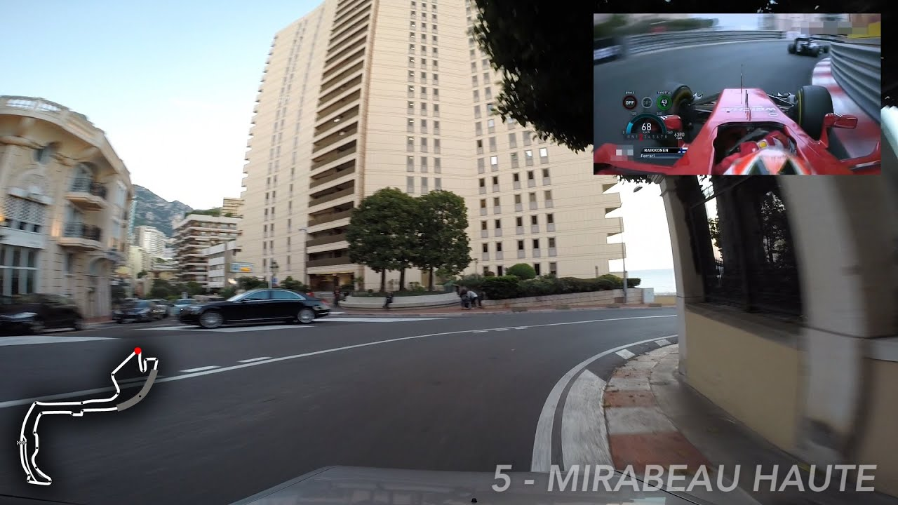 Lap of the Formula 1 Circuit in Monaco during a non-race day