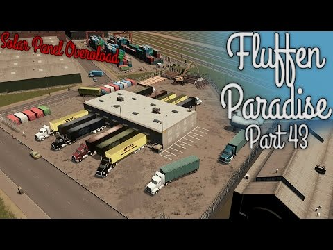 SOLAR PANEL OVERLOAD - Cities Skylines - Fluffen Paradise [PART 43] - Train Yard
